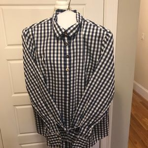 Gorsuch Blue and White Check Shirt